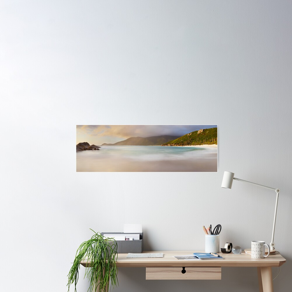 Dawn greets Little Waterloo Bay, Wilsons Promontory, Victoria, Australia Poster