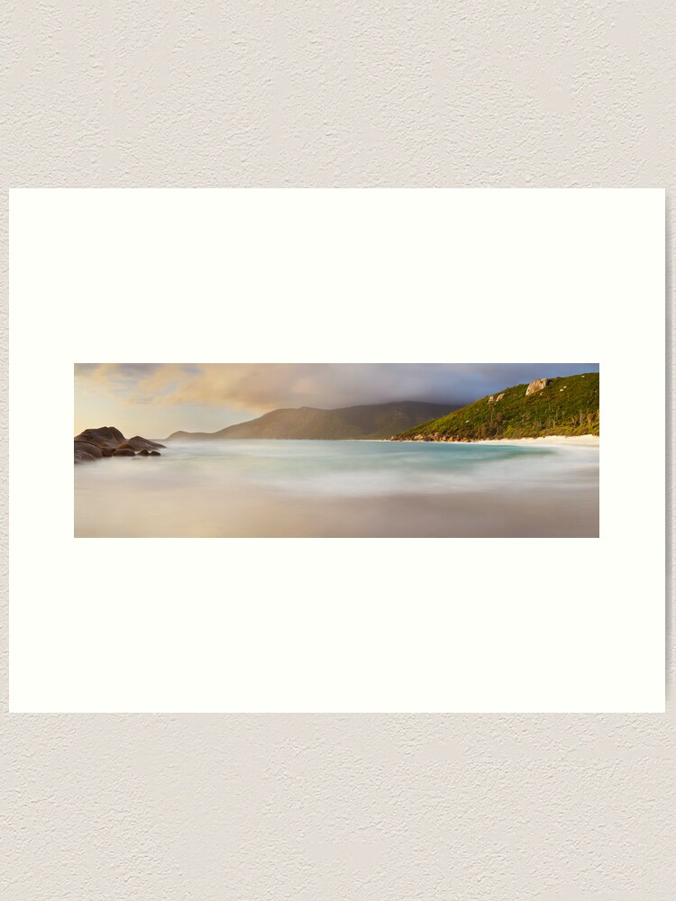 Alternate view of Dawn greets Little Waterloo Bay, Wilsons Promontory, Victoria, Australia Art Print