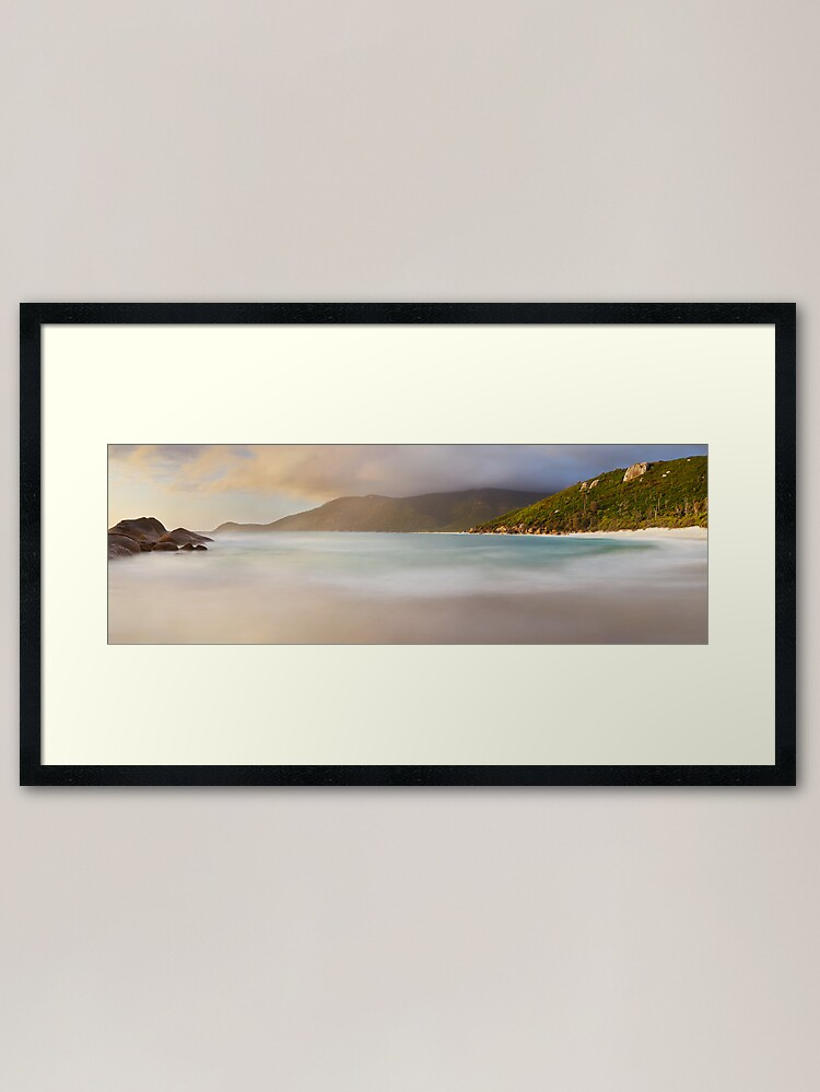 Alternate view of Dawn greets Little Waterloo Bay, Wilsons Promontory, Victoria, Australia Framed Art Print