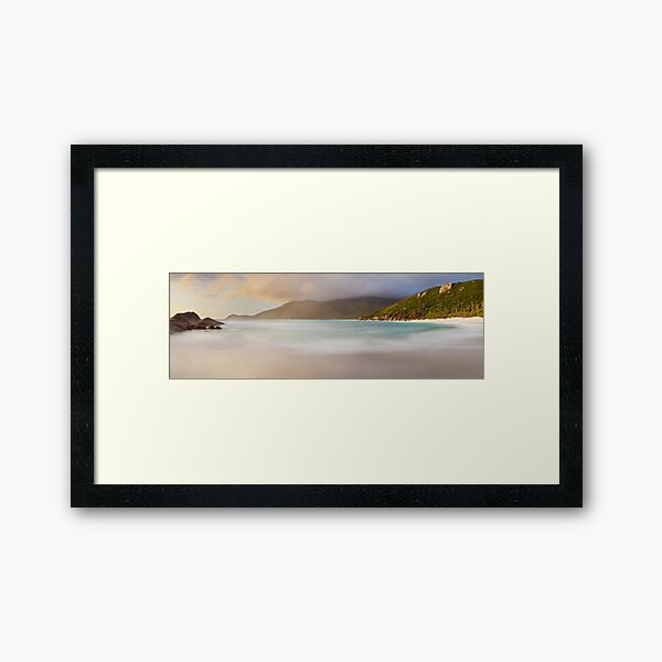 Dawn greets Little Waterloo Bay, Wilsons Promontory, Victoria, Australia Framed Art Print