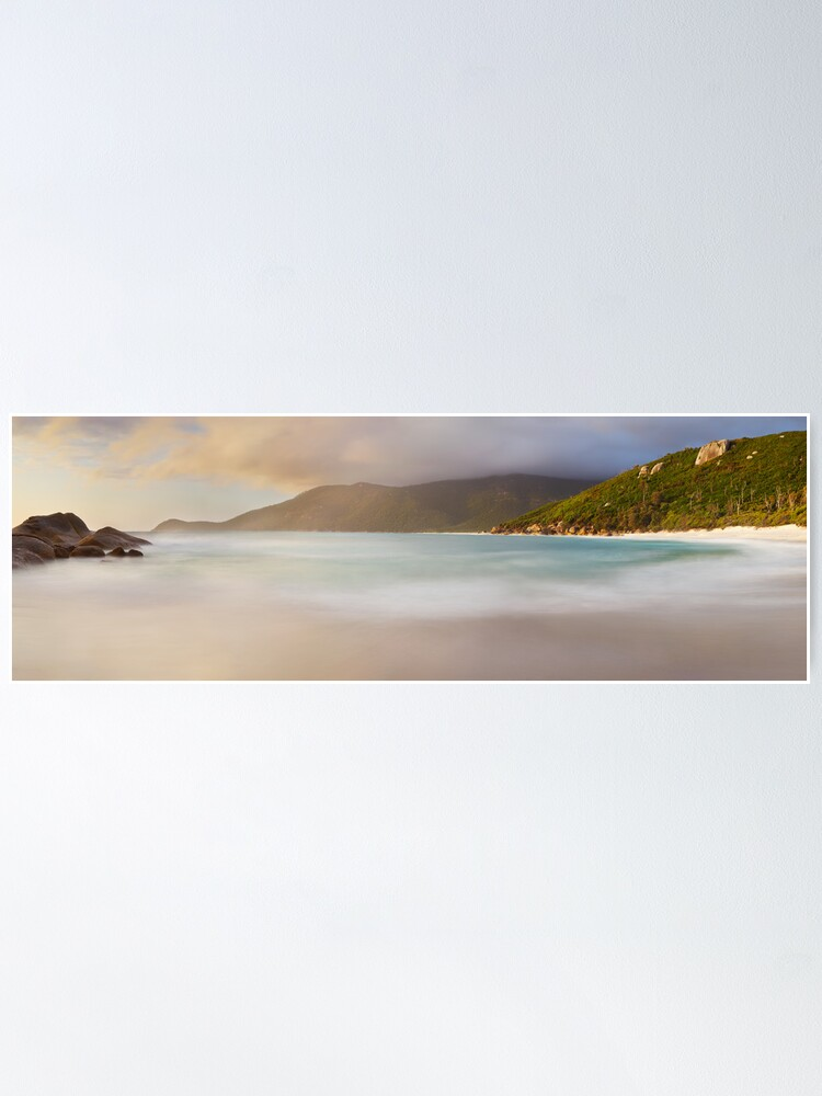 Alternate view of Dawn greets Little Waterloo Bay, Wilsons Promontory, Victoria, Australia Poster