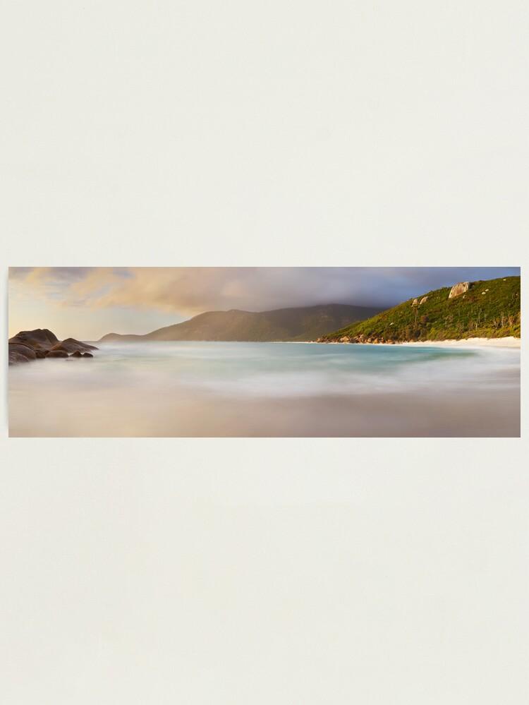 Alternate view of Dawn greets Little Waterloo Bay, Wilsons Promontory, Victoria, Australia Photographic Print