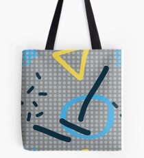 Modern hand draw colorful abstract seamless pattern Tote Bag