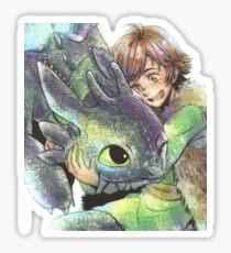 How to train your dragon 'Hug' Sticker