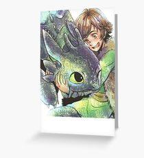 How to train your dragon 'Hug' Greeting Card