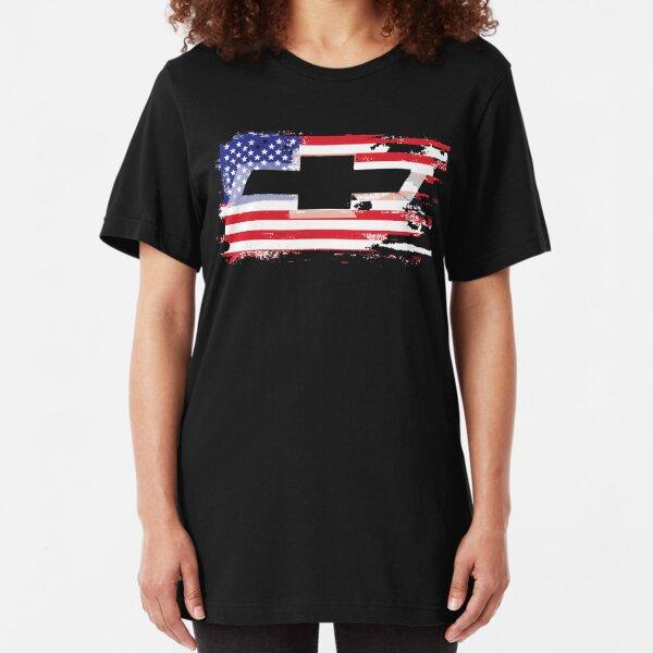 USA MURICA CAR TRUCK VINTAGE  Slim Fit T-Shirt