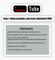 Youtube Comments  Sticker