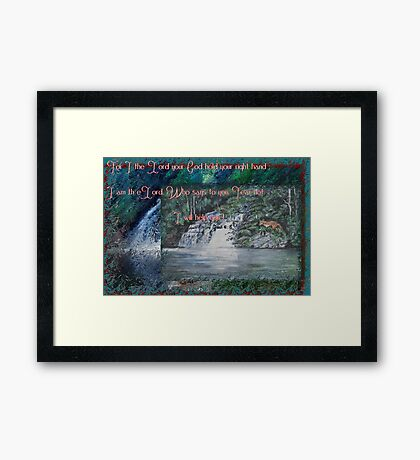 Wilmot Falls, Tasmania... painting with scripture Framed Print