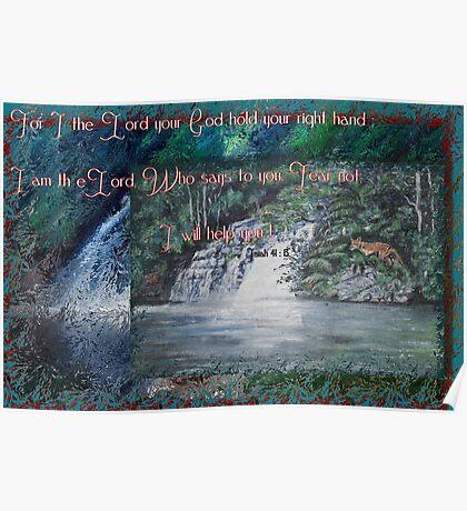 Wilmot Falls, Tasmania... painting with scripture Poster