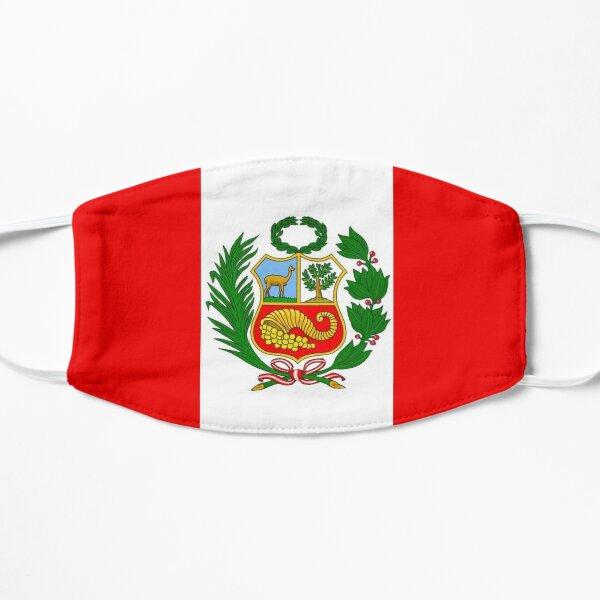 Drapeau des armoiries du Pérou noir Masque sans plis
