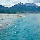 Deep Blue Waimakariri River, New Zealand by Dilshara Hill