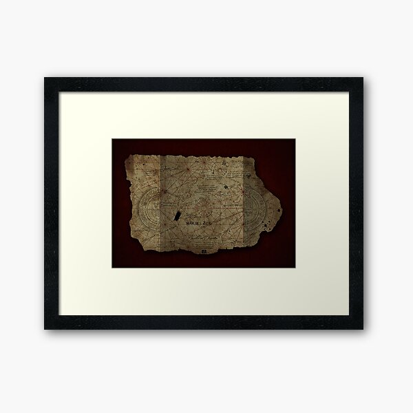 Goonies Treasure Map Framed Art Print