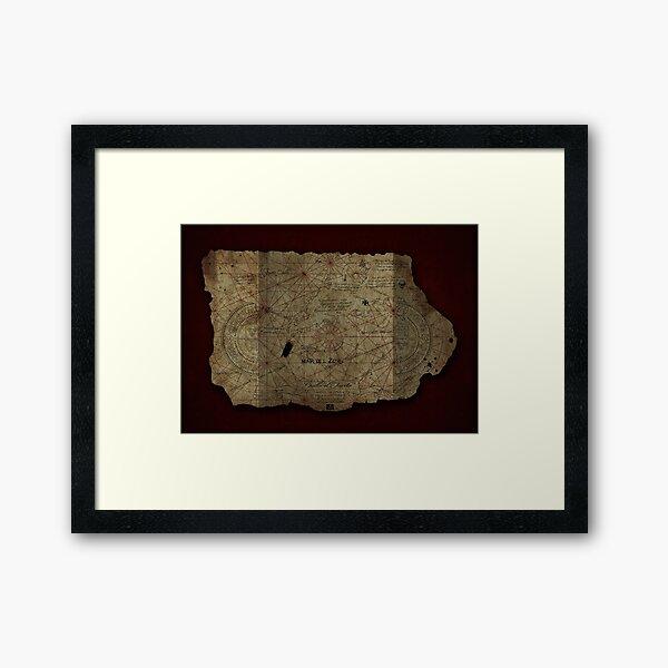 Goonies Treasure Map Framed Art Print