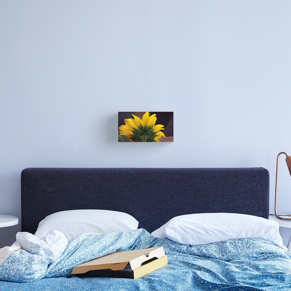 Backside of the Sunflower Canvas Print