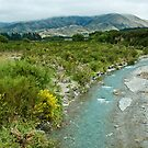 Icy Blue River, New Zealand by Dilshara Hill
