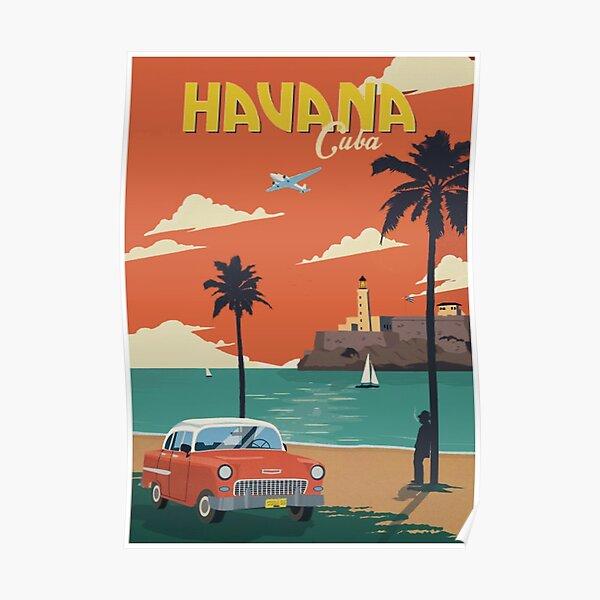 La Havane Cuba Voyage Poster