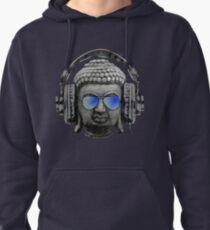 Cool Headphones Hip Hop Groove Buddha Banksy  Pullover Hoodie