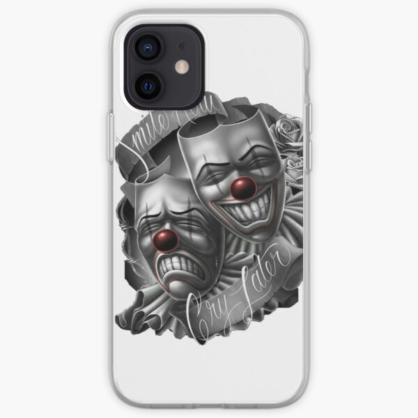 Smile now cry later clown faces iPhone Soft Case