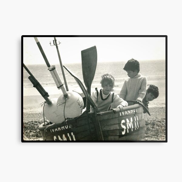 On the boat Metal Print