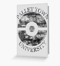 Pallet Town University Greeting Card