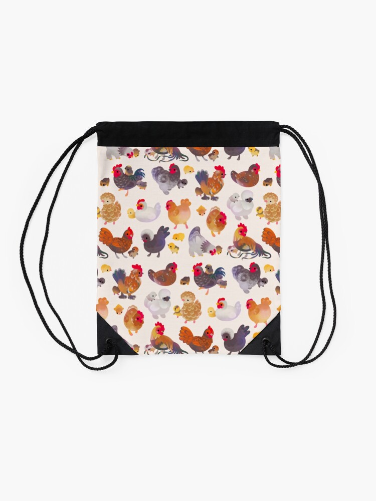 Alternate view of Chicken and Chick Drawstring Bag