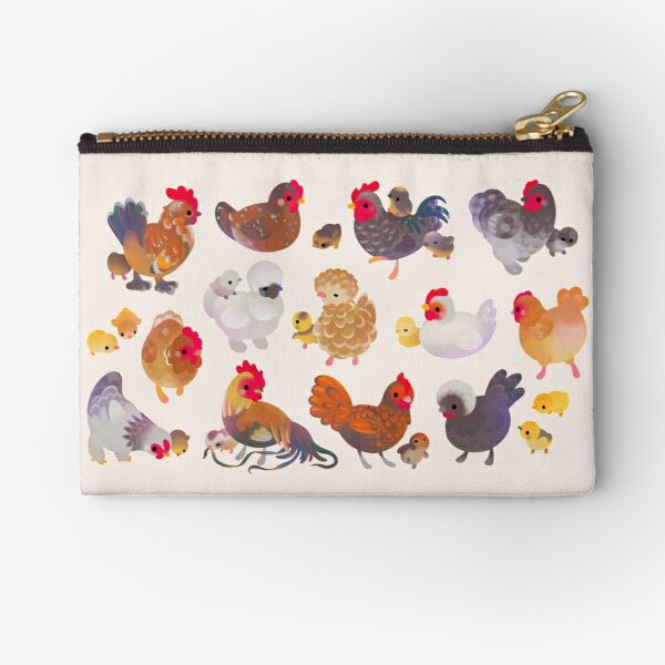 Chicken and Chick Zipper Pouch