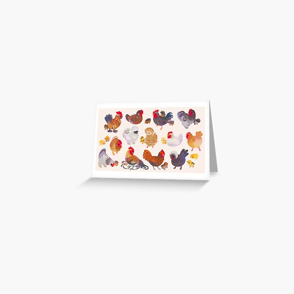 Chicken and Chick Greeting Card