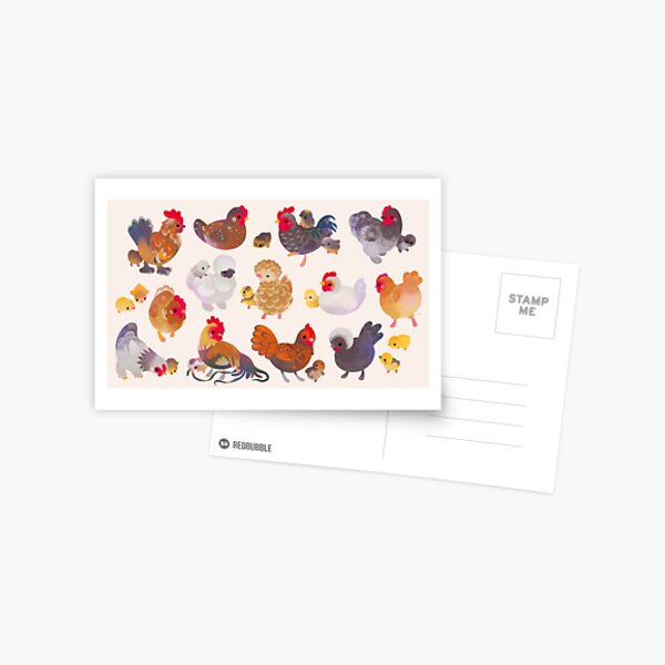 Chicken and Chick Postcard