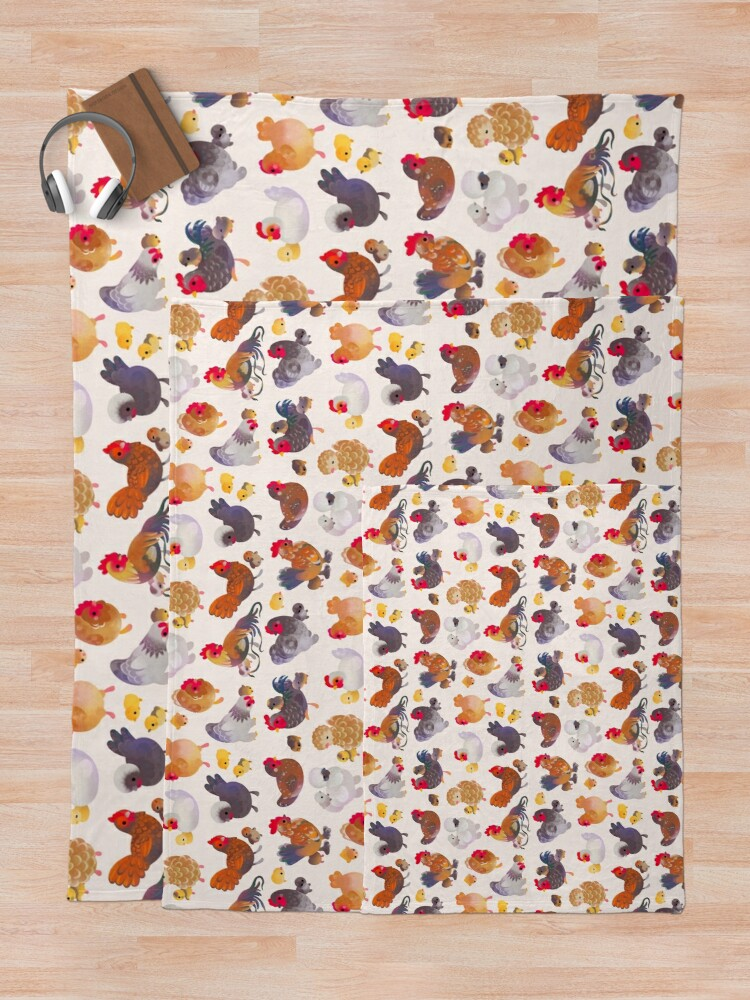 Alternate view of Chicken and Chick Throw Blanket