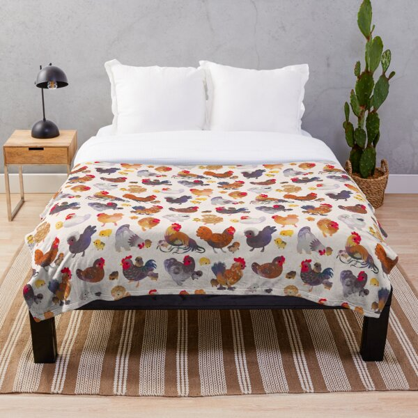 Chicken and Chick Throw Blanket