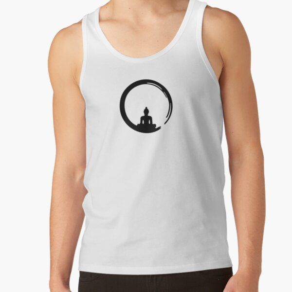 Enso Zen Circle of Enlightenment, Meditation, Buddha, Buddhism, Japan Tank Top
