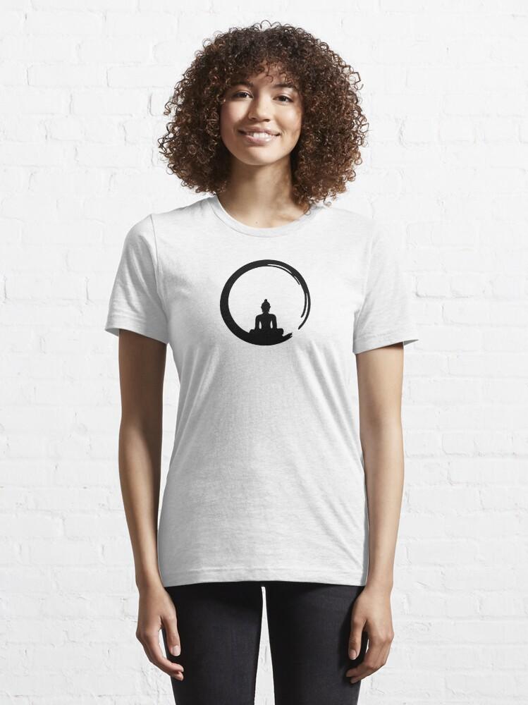 Alternate view of Enso Zen Circle of Enlightenment, Meditation, Buddha, Buddhism, Japan Essential T-Shirt