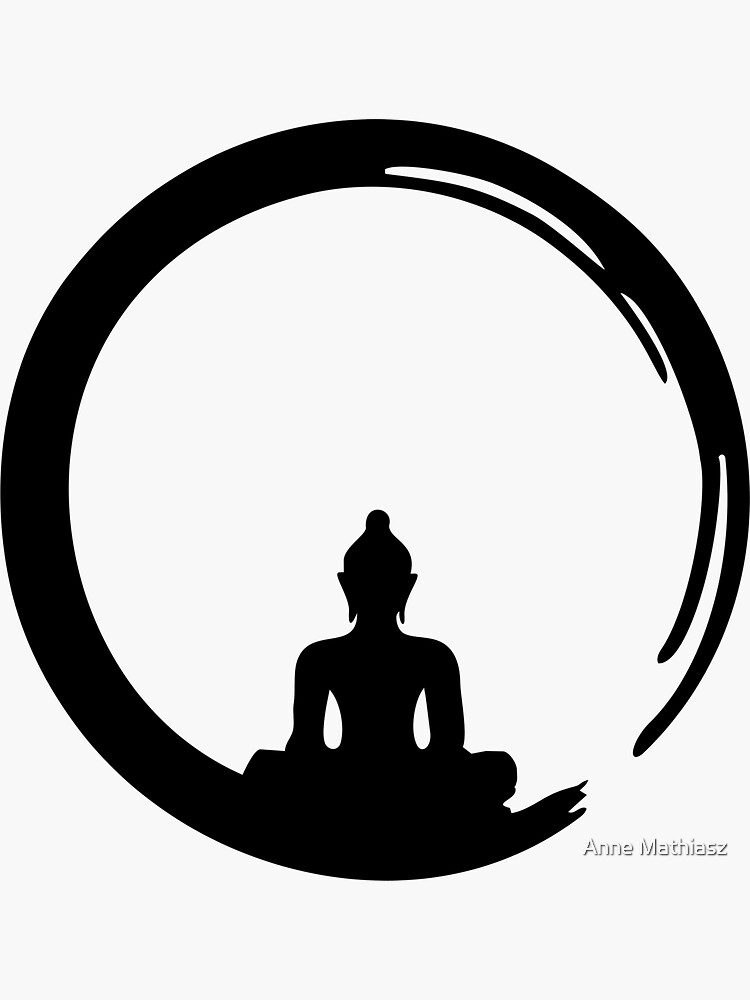 Enso Zen Circle of Enlightenment, Meditation, Buddha, Buddhism, Japan by nitty-gritty