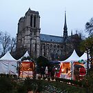 Christmas market in the shadow of Notre Dame by Jay Armstrong