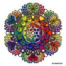 Rainbow Valentine Mandala by mandala-jim