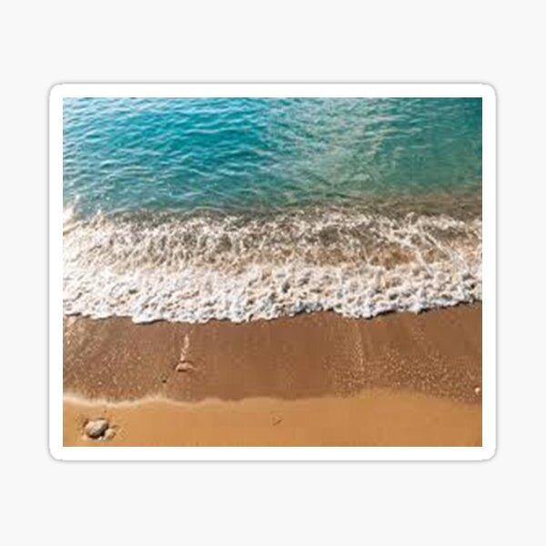 Brown Seashore. Sticker