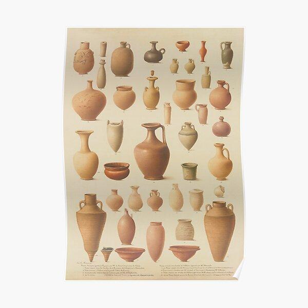 EGYPTIAN Antique VASES Poster