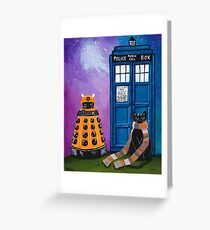 The Doctor and the Dalek Greeting Card