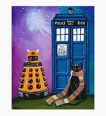 The Doctor and the Dalek Photographic Print