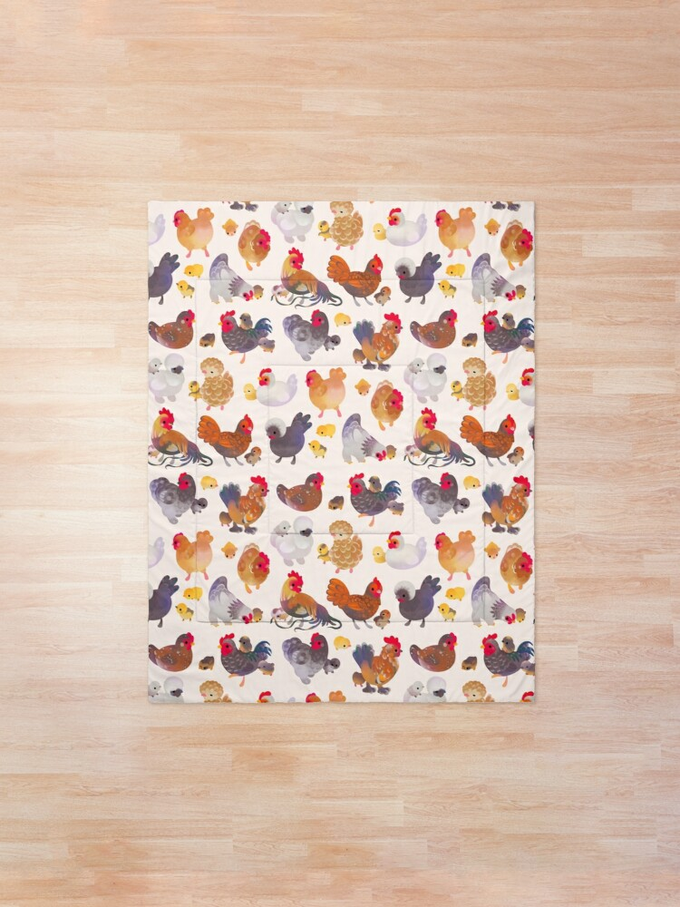 Alternate view of Chicken and Chick Comforter
