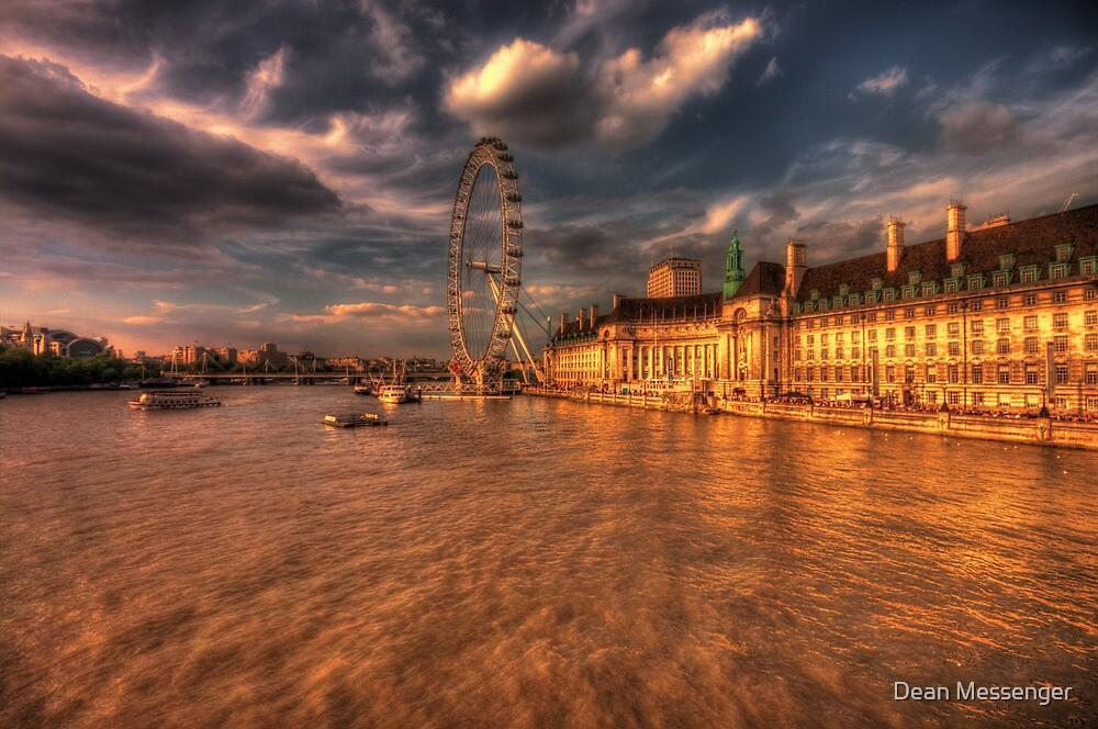 London Eye at Sunset by Dean Messenger