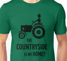 The Countryside Is My Home! (Farmer With Tractor) Unisex T-Shirt