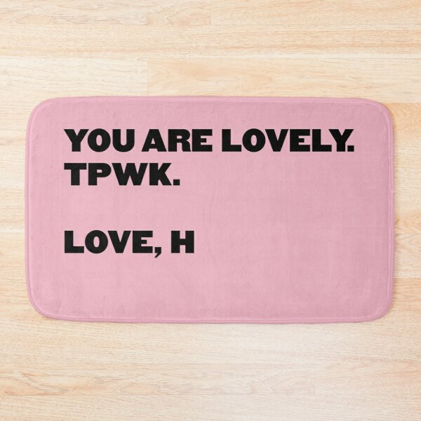 You Are Lovely - HS pink Bath Mat
