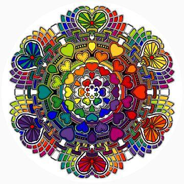 Heart Rainbow Mandala  by mandala-jim