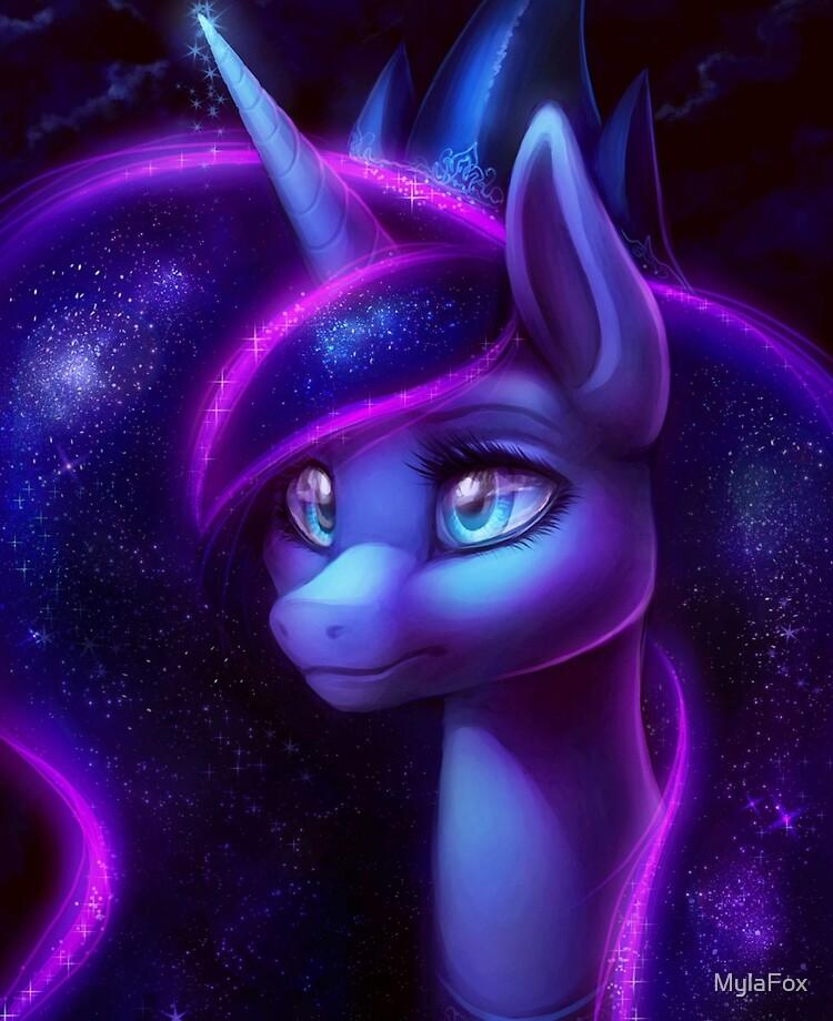 My Little Pony Fan Art Princess Luna Ipad Case Skin By Mylafox Redbubble