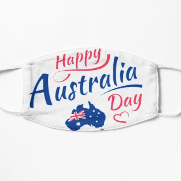 Happy Australia Day Flat Mask