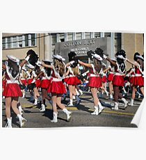 Marching in the Texas Rose Parade Poster