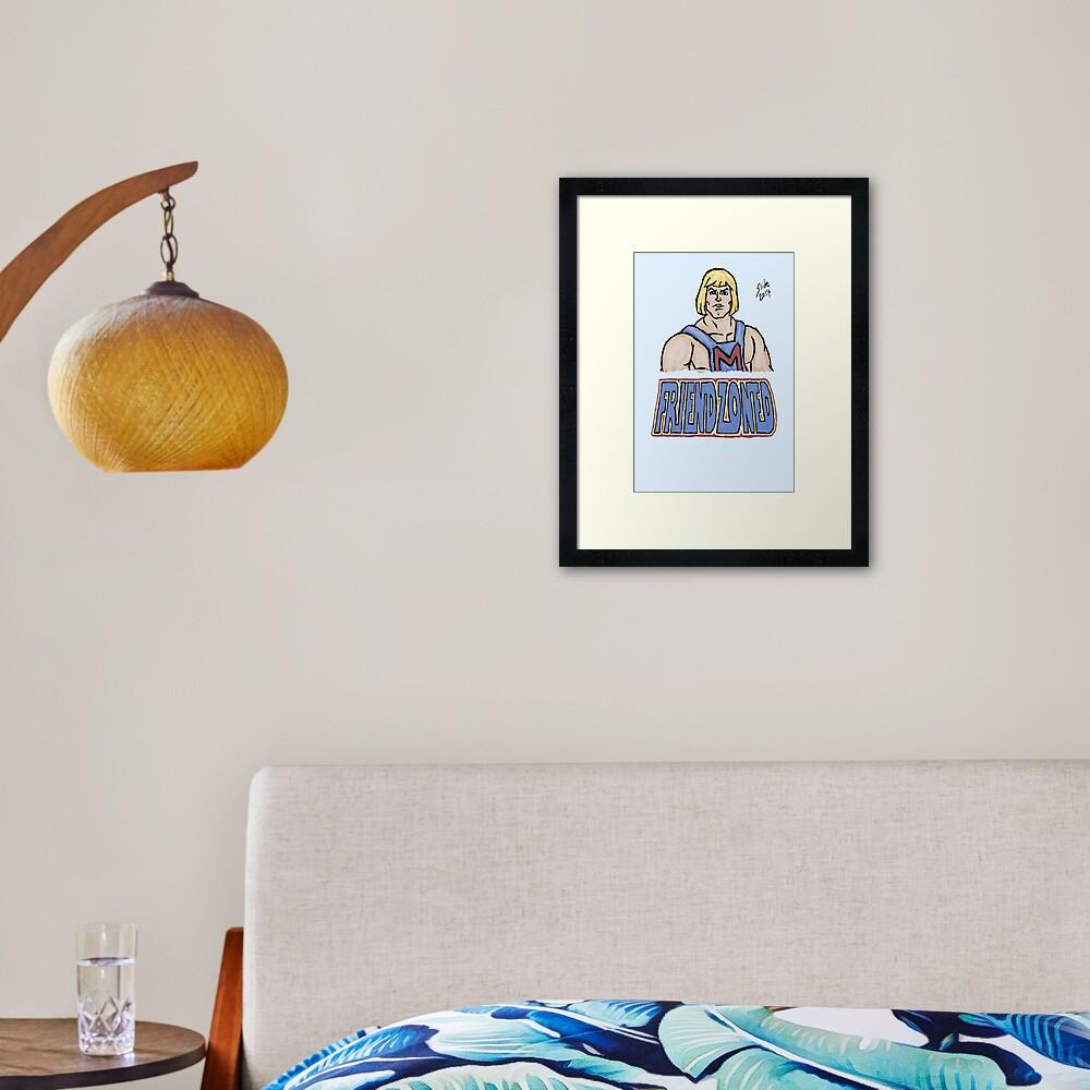 Friendzoned, 2014 Framed Art Print