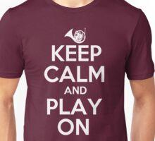 Keep Calm and Play On Horn Unisex T-Shirt