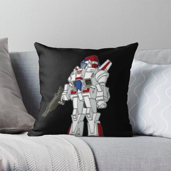 Jetfire transformer g1 autobot decepticon Throw Pillow